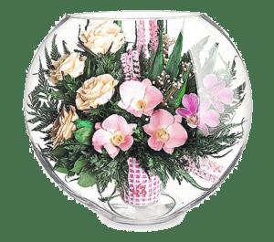 Эксклюзивные букеты в стекле и стабилизированные цветы